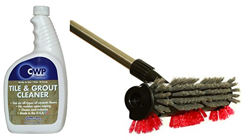 - The Diamond Tile & Grout Cleaning Kit ~ Brush & 32 oz Grout Cleaner for Shower, Bathroom, Kitchen, Removes Stains Dirt & Debris