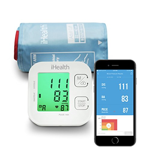 iHealth Track Wireless Blood Pressure Monitor Upper Arm with
