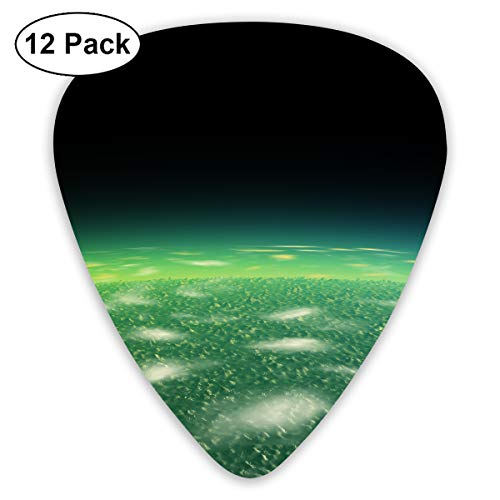 GUITARARAR Guitar Picks 12pack Celluloid Plectrum Custom 0.46mm/ 0.71mm/ 0.96mm Oasis Oases Earth Electric Acoustic Guitars Bass Best Stocking Stuffer Gifts for Kids Teens Teenagers Adults ()