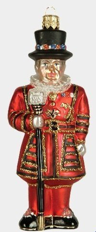 Beefeater Tower of London Guard - Polish Glass Christmas Ornament (Beefeater Christmas)