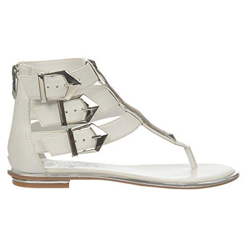 Sammy Atanado PU White Women's Sandal Fergie Gladiator Veg 5qw1X6v