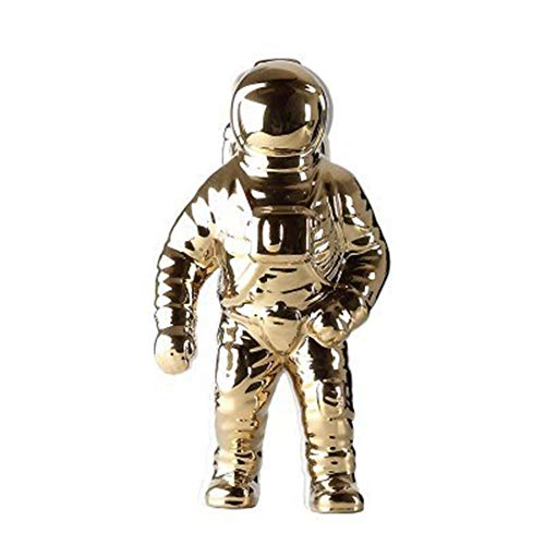 Ornaments for Creative Astronauts Spaceman Model Ornaments Living Room Study Children's Room Decoration Furnishings Sculpture Crafts Gold (L Size)