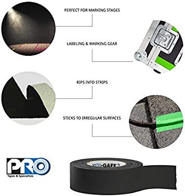 11 mils Thick Brown 55 yds Length 3 Width Pack of 1 ProTapes Pro Gaff Premium Matte Cloth Gaffers Tape With Rubber Adhesive