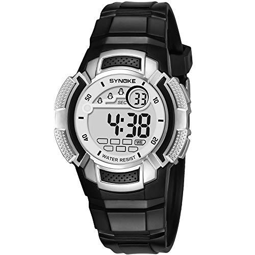 iNoDoZ Sport Kids Watch Digital Double Action Watch for Boy & Girl 50M Waterproof Watch, Multi-Function LED Outdoor Watches ()