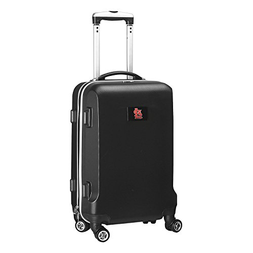 MLB St. Louis Cardinals Carry-On Hardcase Spinner, Black by Denco