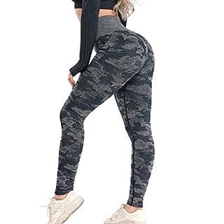 Women High Waisted Leggings Seamless Workout Yoga Pants Butt Lift Tummy Control M