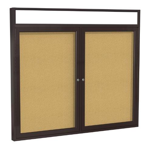 "Hot 2-Door Aluminum Frame Enclosed Bulletin Board Frame: Bronze Aluminum Indoor, Size: 48"" x 60"""
