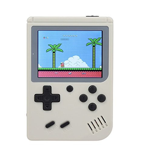 Smart-US Christmas, New Year, Birthday Presents Handheld Game Console 3 Inch Screen 168 Games Retro FC TV Output Game Player Classic Game Console (White)