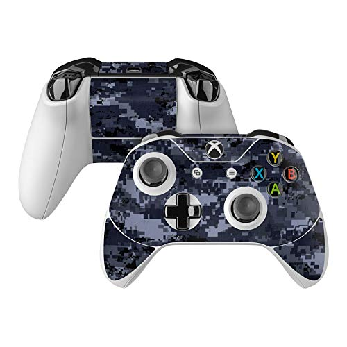 Digital Navy Camo Skin Decal Compatible with Microsoft Xbox One and One S Controller - Full Cover Wrap for Extra Grip and Protection