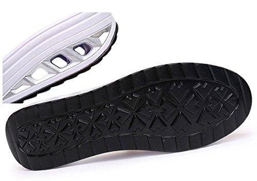 Ausom Womens Slip-on Ademend Platform Wiggen Toning Schoenen Wandelen Fitness Uitwerken Sneaker Donkerblauw