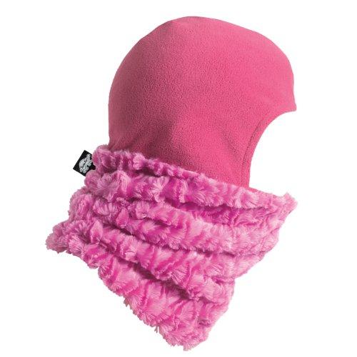 Kids Turtles Neck Warmer (Turtle Fur Kids Shellaclava Curly Fur Fleece Shellaclava Think Pink)