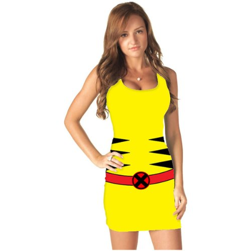 Marvel Comic Tank Dress Adult Costume Wolverine - -