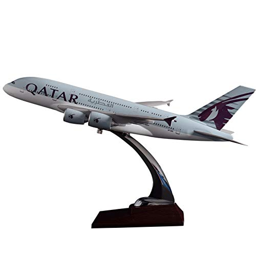 Marreto 36Cm A380 Qatar Airlines Airbus Model Qatar International Aviation Airways Resin Aircraft Model Airplane A380 Plane Model Gift