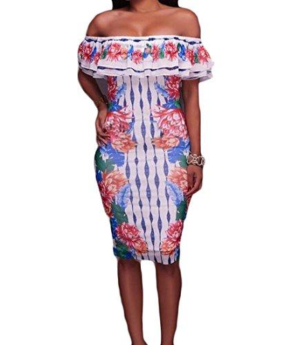 Coolred Des Femmes De Robes De Soirée Décontractée Du Parti Bodysuit Bustier Élégant Blanc