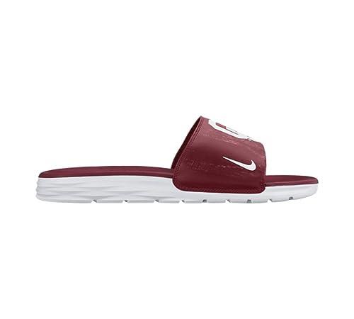 9d1a6cd6f18f Amazon.com  Nike Men s Benassi Solarsoft College Slide Oklahoma State  Crimson White 10  Sports   Outdoors