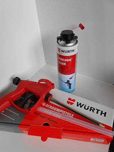 Würth PURlogic Xpress Schaumpistole für 1K Schaum + Würth Reiniger