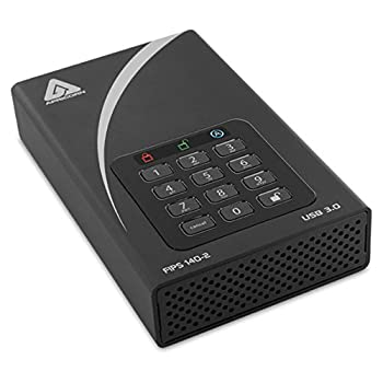 Image of Apricorn Aegis Padlock 16 TB DT 256-Bit Encrypted USB 3.0 Hard Drive (ADT-3PL256-16TB) External Hard Drives
