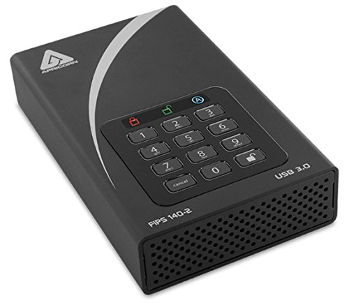 (Apricorn Aegis Padlock 12TB FIPS 140-2 Validated 256-Bit Encrypted Hard Drive (ADT-3PL256F-12TB))