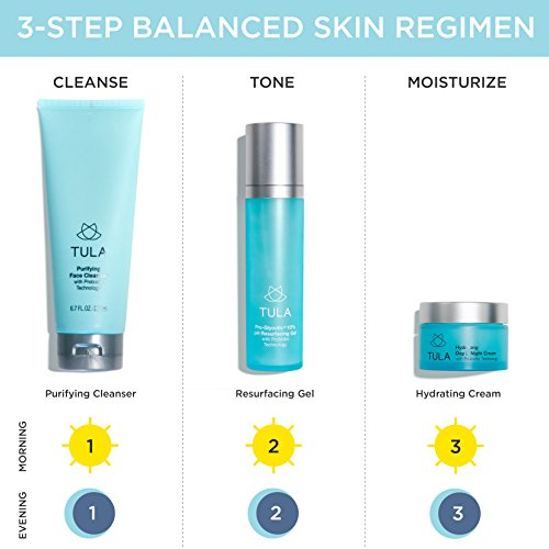 TULA Probiotic Skin Care Mini Best Sellers Kit - Travel-friendly kit with Purifying Cleanser and Mini Hydrating Day & Night Cream for Healthy and Hydrated Skin by TULA Skin Care (Image #5)