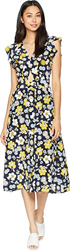Juicy Couture Women's Silk Garden Floral Midi Dress Regal Garden Floral 0