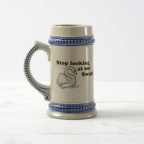(Zazzle Stop Looking At Me Swan Beer Stein)