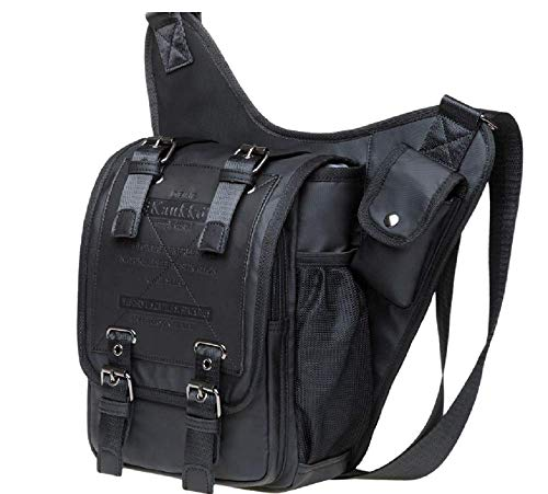 KAUKKO Waterproof Double Black Messenger Cross body Bag (SB1A)