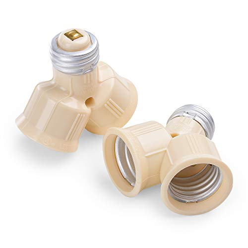 (Cable Matters 2-Pack Light Bulb Socket Splitter in Light)