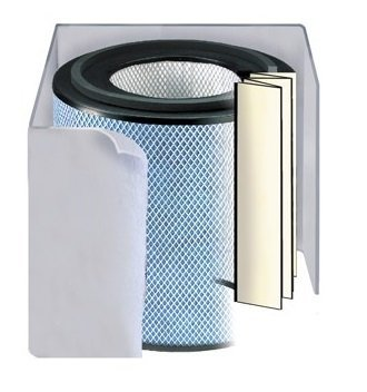 Replacement filter for Austin Air Bedroom Machine Air Purifier (White Color)