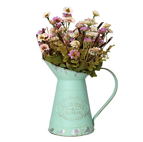 Yoillione Decorative Metal Jug, Vintage Jug Flower Vase, Farmhouse Pitcher Vase for Garden/Country Chic Decor, Duck ()