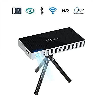 "NOPNOG Pico Projector Mini Video Projector with Tripod Remote Control Support Wifi HD 1080P Bluetooth Micro SD Card Max 120"" Display"
