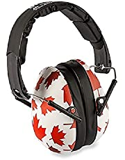 Baby BanZ Earmuffs Kids Hearing Protection - Ages 2+ Years - The Best Earmuffs for Kids - Industry Leading Noise Reduction Rating - Soft & Comfortable - Kids Ear Protection, Maple Leaf