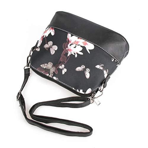De La Pu Las Handbag Cuero Mujeres Bolso Printing Floral OwqEtdax6