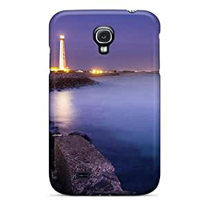 High Impact Dirt/shock Proof Case Cover For Galaxy S4 (lit Lighthouse At A Night Seashore)