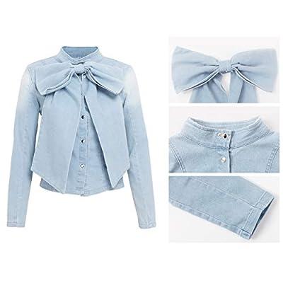 Womens Jean Jacket Long Sleeve Classic Distressed Butterfly Denim Trucker Jackets at Women's Coats Shop
