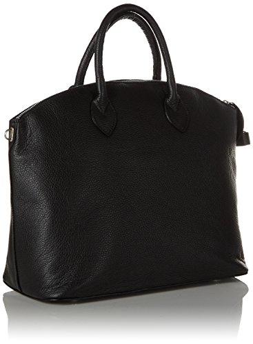 5x32x17 Cuero Genuino 38 Cm Negro Moda Elegantes nero2 Hecha En Cinturón Tutto Las Hombro Mujeres De Italia Chicca Ctm Bolso Con Txgqawz48