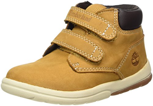 Timberland Baby Toddle Tracks Hook & Loop Boot Ankle, Wheat Nubuck 4 M US Toddler
