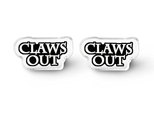 Claws Out Earrings - Punk Rock, Cat Earrings, Pastel Goth, Aesthetic, Everyday Goth, Soft - Claw Studs Soft