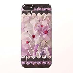 DUR Three-Dimensional Diamond Graphics Purple Flower Pattern PC Hard Case for iPhone 5/5S
