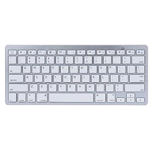 Egmy Hot! 2016 Slim Mini Bluetooth Wireless Keyboard for iPad Pro 9.7 /12.9 inch White by Egmy (Image #1)