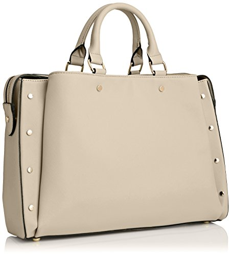 SwankySwans Michelle Pu Leather Work, Sacchetto Donna Beige (Beige (Beige))