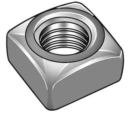 1''-8 Low Carbon Steel Plain Finish Square Nut - Heavy, (Pack of 2) by FABORY