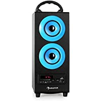 Auna Beachboy Rechargeable 2.0 Portable Bluetooth Speaker (Charges via USB, FM Radio, Robust MDF Cabinet) Blue