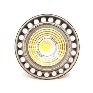 Leedfsw Dimmable GU10 5W Epistar COB 500LM 2800-3000K Warm White LED Spot Light Bulb(AC110V)