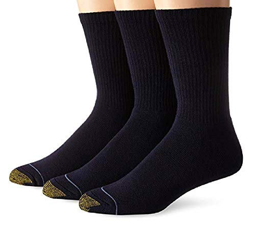 Gold Toe Men's Uptown Crew Three-Pack Socks (4 PK(12 PAIRS) 10-13, Navy) Shoe: 6-12.5