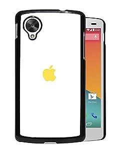 Simple Yellow Apple Logo Google Nexus 5 Phone Case On Sale
