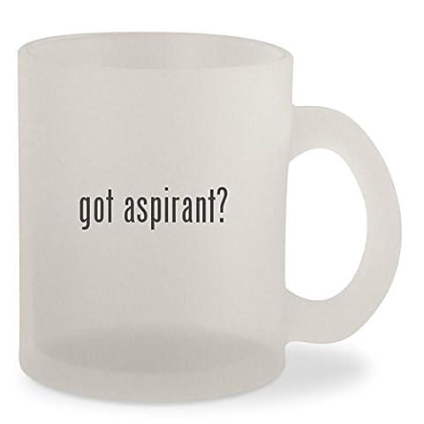 got aspirant? - Frosted 10oz Glass Coffee Cup Mug (Nautilus Aspire Tank Glass)