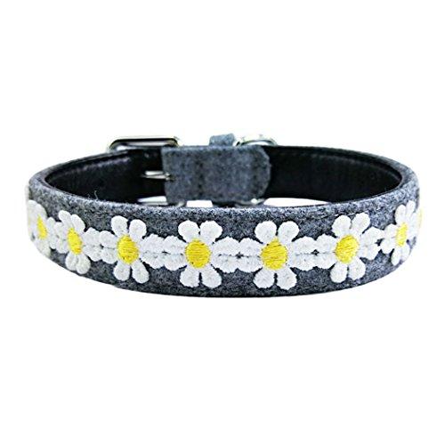 Legendog Flower Dog Collar Party Pet Collar Cute Daisy Decor Adjustable Dog Collar Printed Cat Collar by Legendog