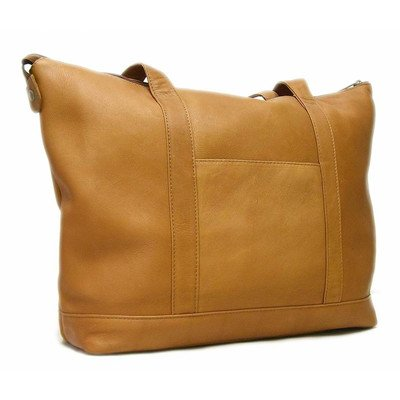 le-donne-leather-double-strap-med-pocket-tote-tan