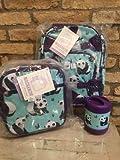 Pottery Barn Kids Aqua Panda Small Backpack Lunchbox Thermos 3 Piece Set