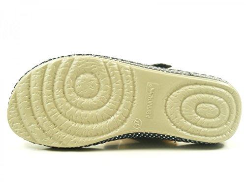 Dr. Brinkmann 701034 Schuhe Damen Pantoletten Sandalen Clogs Blau